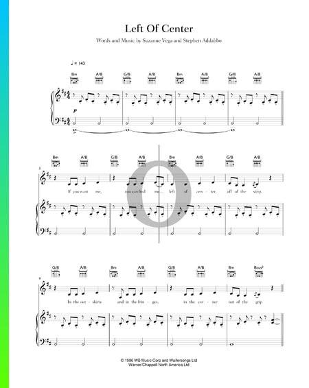 Left Of Center Sheet Music