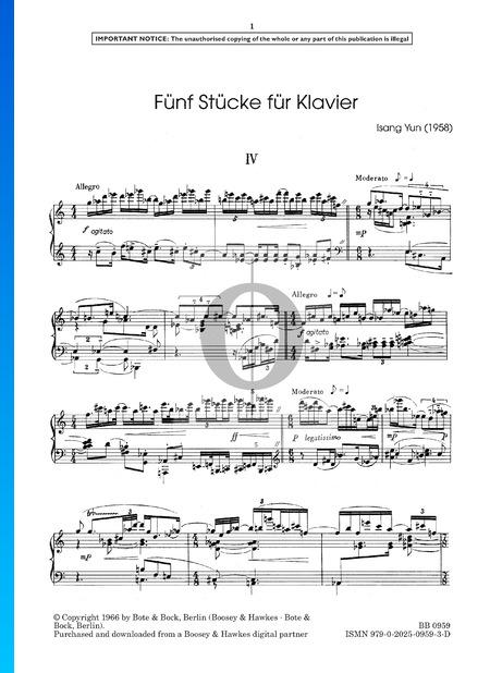 5 Piano Pieces: No. 4. Allegro Partition