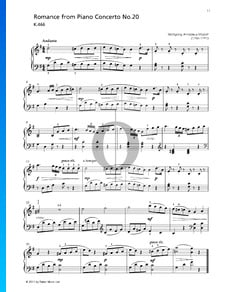 Piano Concerto No. 20 in D Minor, K. 466: 2. Romance