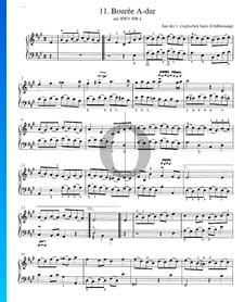 Bourrée A-Dur, BWV 806a