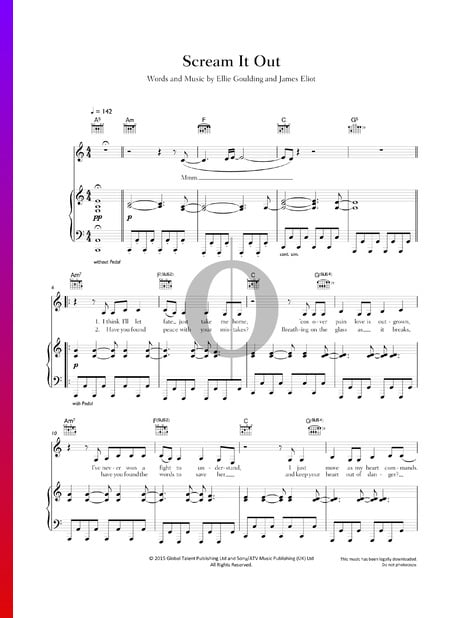 Scream It Out Sheet Music