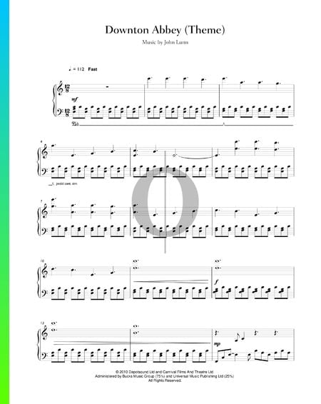 Downton Abbey (Main Theme) Sheet Music