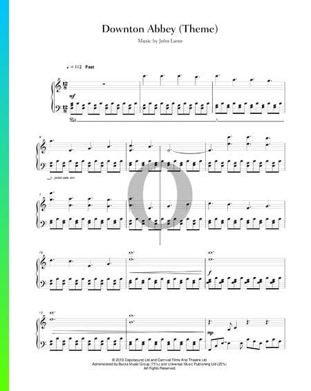 Downton Abbey (tema principal) Partitura