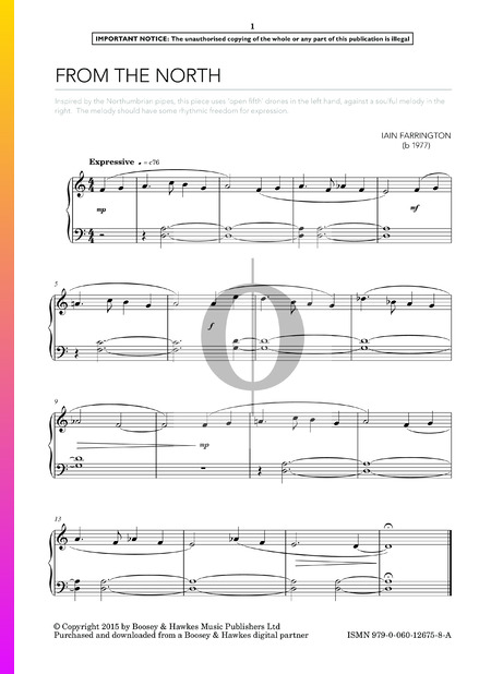 From The North Sheet Music