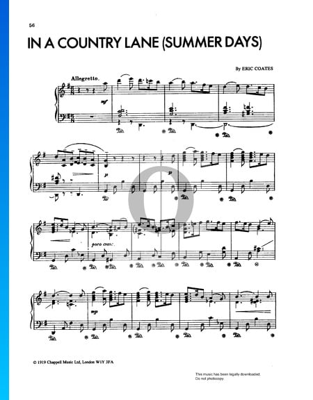Summer Days Suite: In A Country Lane Sheet Music