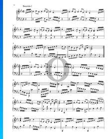 Suite en Mi bémol Majeur, BWV 1010: 5. Bourrée I und II