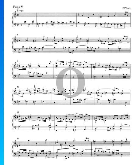 Fugue a-Moll, HWV 609 Musik-Noten