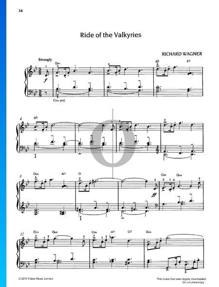 Walkürenritt, WWV 86B Musik-Noten