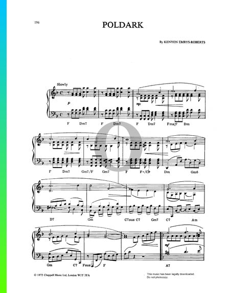 Poldark Theme Musik-Noten