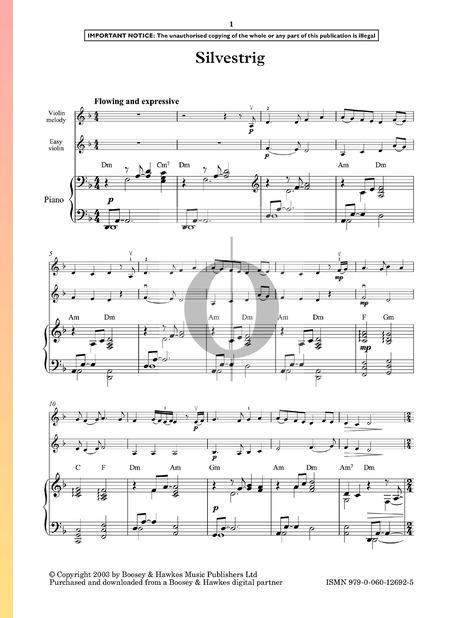 Silvestrig Musik-Noten