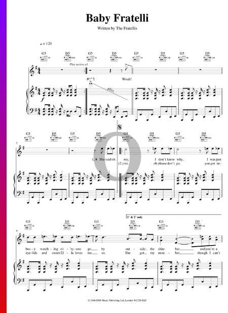 Baby Fratelli Musik-Noten