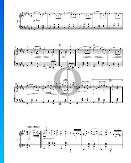 Vals, Op. 39 n.º 3 Partitura