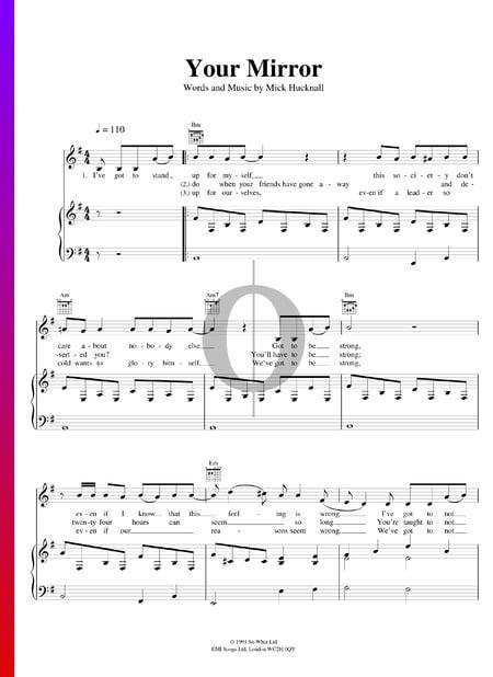Your Mirror Musik-Noten