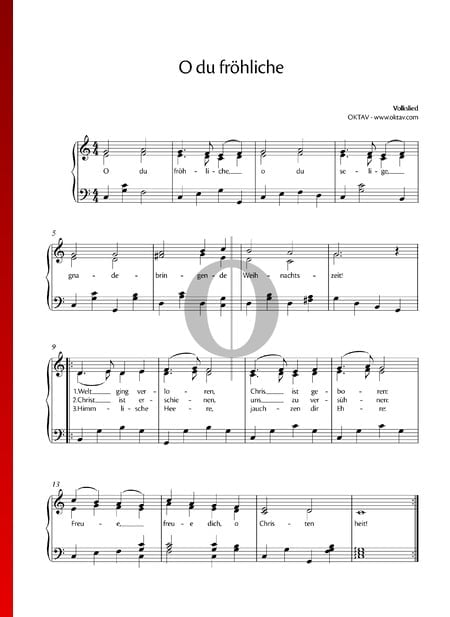O du fröhliche Sheet Music