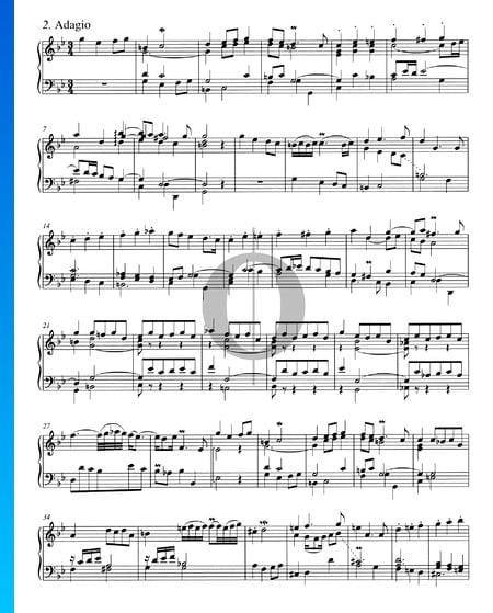 Concerto en Sol mineur, BWV 983: 2. Adagio Partition