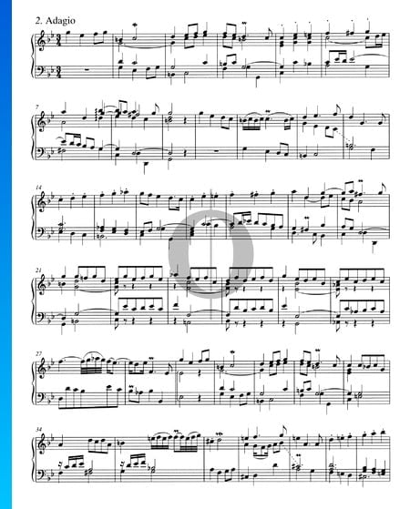 Concerto in G Minor, BWV 983: 2. Adagio Sheet Music