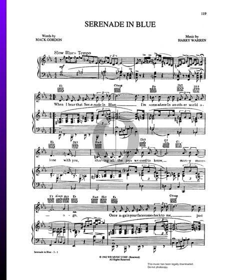 Serenade In Blue Musik-Noten