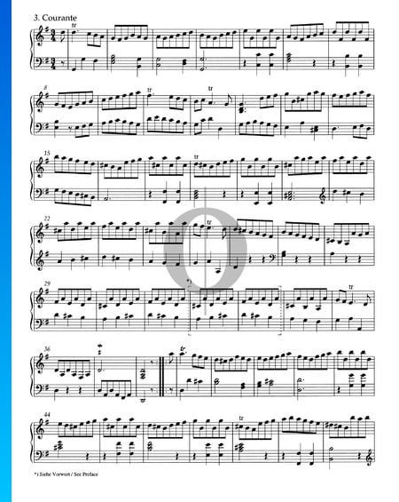 Suite G Major, HWV 441: 3. Courante Sheet Music