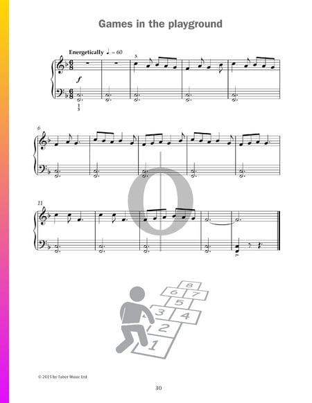 Games in the playground Musik-Noten
