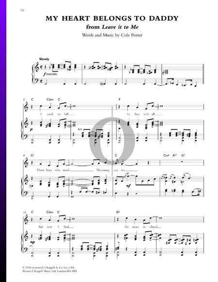 My Heart Belongs To Daddy Musik-Noten