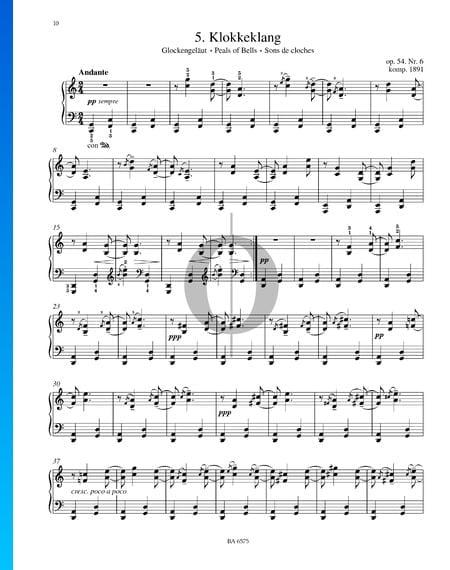 Klokkeklang (Glockengeläut), Op. 54. Nr. 6 Musik-Noten