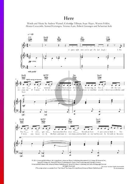 Here Sheet Music