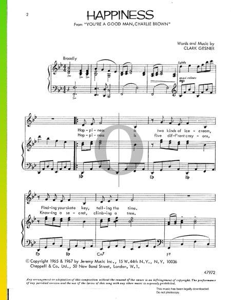 Happiness Musik-Noten