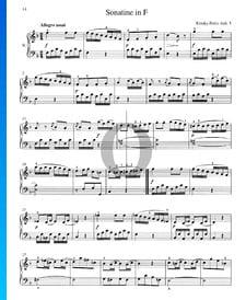 Sonatina in F Major, Anh. 5