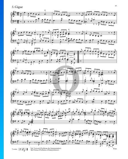 Suite n.º 4 en mi menor, HWV 429: 5. Giga Partitura