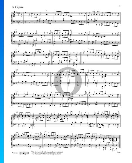 Suite No. 4 en Mi mineur, HWV 429: 5. Gigue Partition