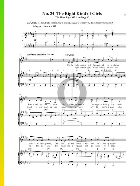 The Right Kind Of Girls Sheet Music