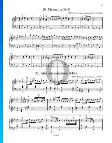 Aria con variaciones en si bemol mayor, HWV 434/3