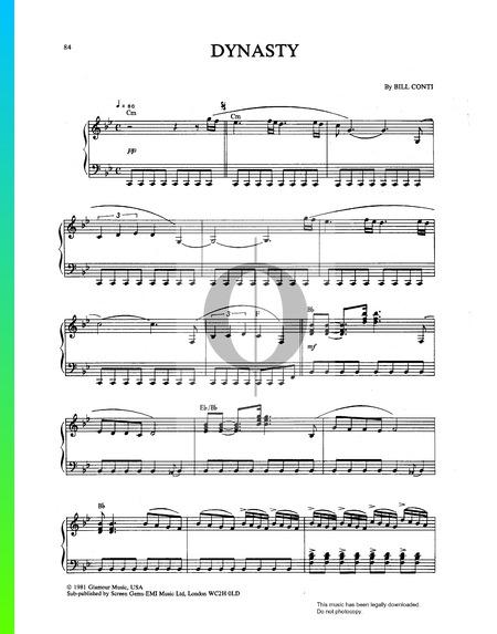 Dynasty Musik-Noten