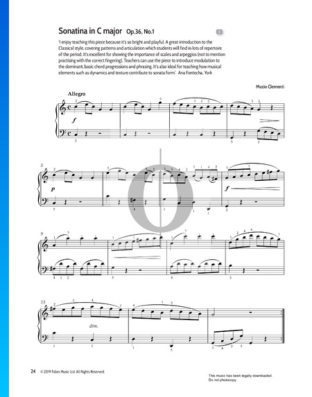 Sonatine in C-Dur, Op. 36 Nr. 1 Musik-Noten