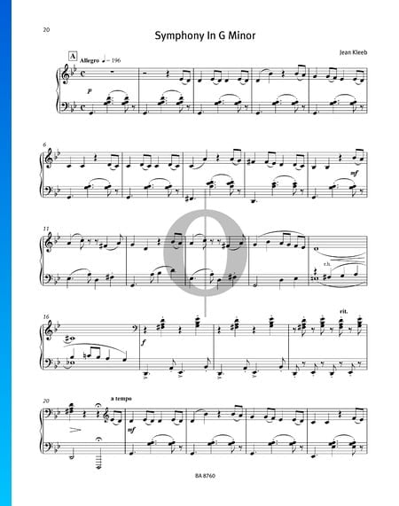 Symphony in G Minor Sheet Music