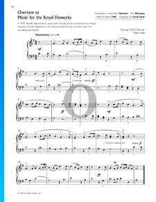 Feuerwerksmusik, HWV 351: Ouverture