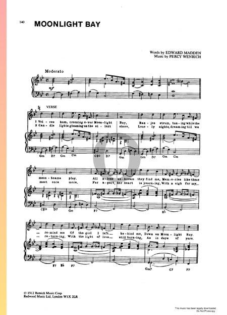 Moonlight Bay Musik-Noten