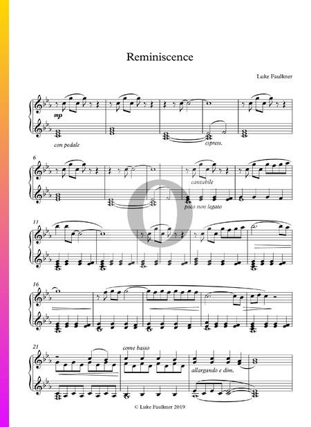 Reminiscence Musik-Noten