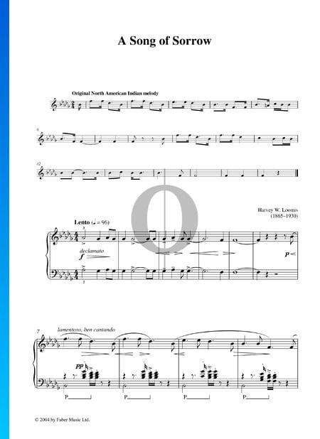 A Song Of Sorrow Musik-Noten
