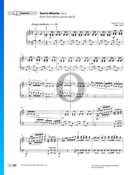 Cinco danzas gitanas Op.55: No. 5 Sacro-Monte Sheet Music
