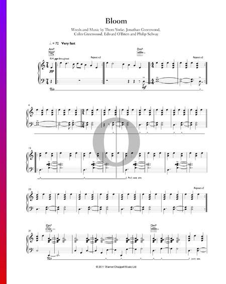 Bloom Sheet Music
