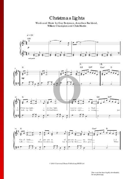 Christmas Lights Sheet Music