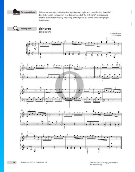 Sonate in F-Dur, XV1/9: 3. Scherzo Musik-Noten