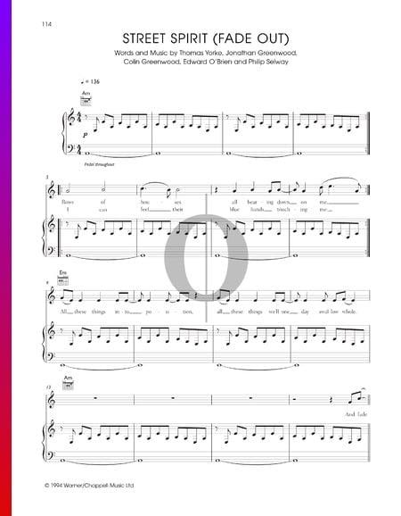 Street Spirit (Fade Out) Musik-Noten