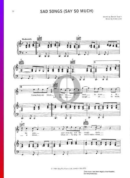 Sad Songs (Say So Much) Musik-Noten