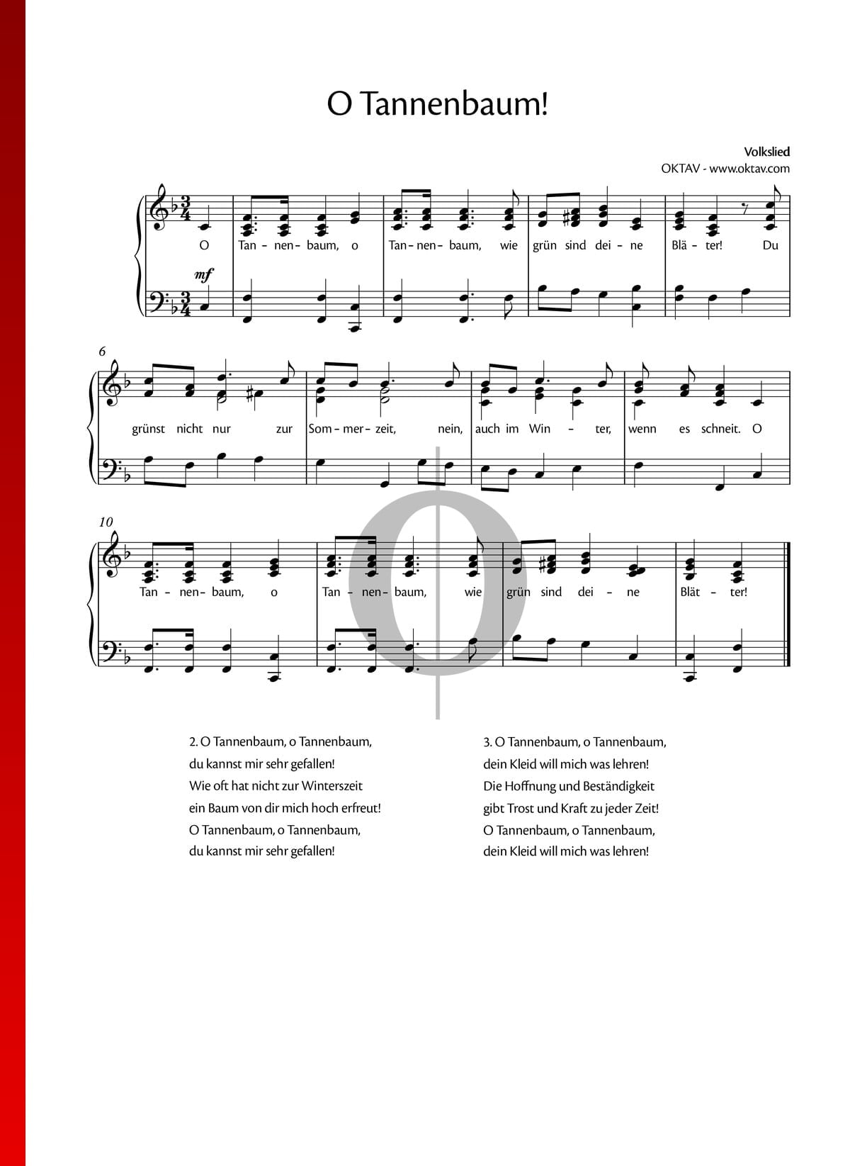 Oh Tannenbaum Noten Keyboard.Oh Tannenbaum Sheet Music Piano Voice Pdf Download
