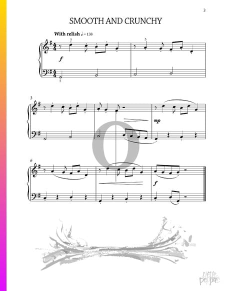 Smooth and crunchy Sheet Music