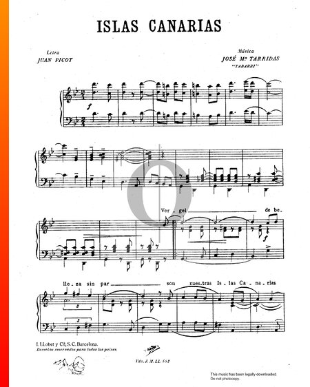Islas Canarias Sheet Music