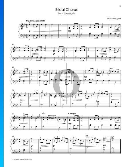Treulich geführt (Bridal Chorus) Musik-Noten