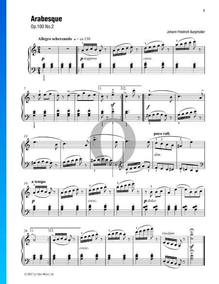 Arabesque, Op. 100 n.º 2 Partitura